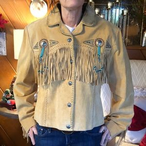 Woman's Scully Suede, Beaded and Concho jacket.
